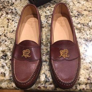 New Brown Polo by Ralph Lauren Loafers Sz 11D